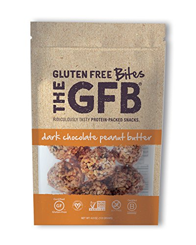 The GFB Protein Bites, Dark Chocolate Peanut Butter, 4 Ounce (Pack of 6), Gluten Free, Non GMO