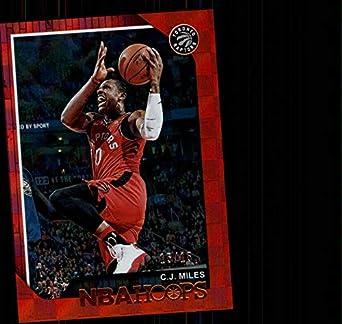 5057dc71f91 2018-19 NBA Hoops Red Checkerboard #46 C.J. Miles SER15 Toronto Raptors  Official Basketball