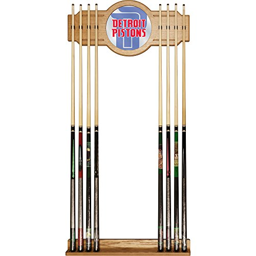 Trademark Gameroom NBA6000-DP2 NBA Cue Rack with Mirror - Fade - Detroit Pistons by Trademark Global