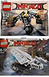 LEGO Ninjago Movie Battle Pack 30427, ICE TANK MICRO BUILD + 30379-1: Quake Mech Polybag edition Vehicle Building Exclusive 2 Pack Set
