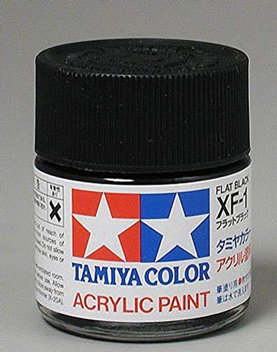 (Tamiya America, Inc Acrylic XF1 Flat Black, TAM81301)