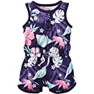 Carter's Baby Girls 1pc Printed Jersey Romper, Navy, 12 Months