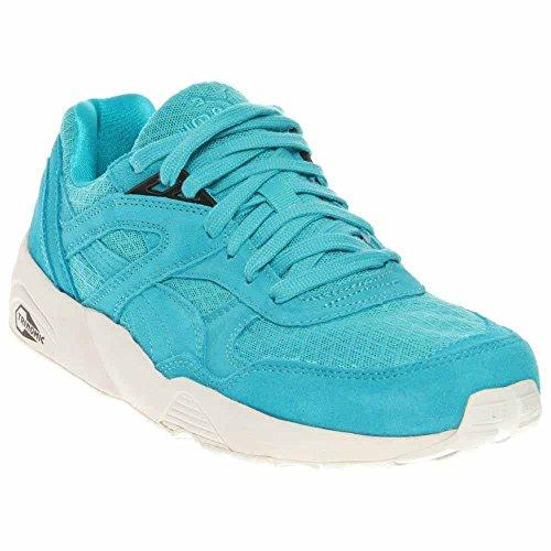 Puma Mens R698 Mesh Evolution Suede Signature Running, Cross Training Shoes Blue