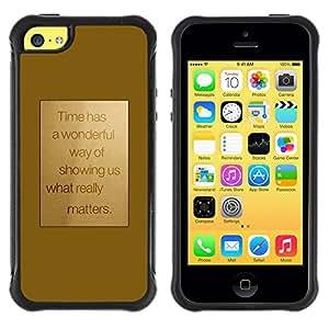 Suave TPU GEL Carcasa Funda Silicona Blando Estuche Caso de protección (para) Apple Iphone 5C / CECELL Phone case / / Motivation Motivational Gold Text /