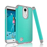 LG K4 2017 Case, LG Fortune Case, LG Phoenix 3 Case, Tinysaturn [YSaturn Series] [Turquoise] Shock Absorbing Rubber Plastic Scratch-Proof Armor Defender Bumper Cover Cases For LG K4 2017 / LG Risio 2