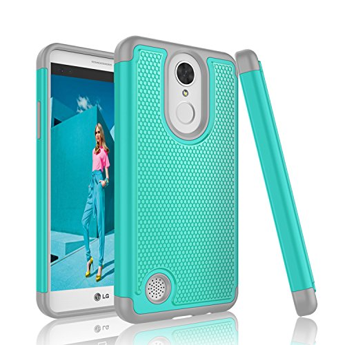 LG K4 2017 Case, LG Fortune Case, LG Phoenix 3 Case, Tinysaturn [YSaturn Series] [Turquoise] Shock Absorbing Rubber Plastic Scratch-Proof Armor Defender Bumper Cover Cases For LG K4 2017 / LG Risio 2 For Sale