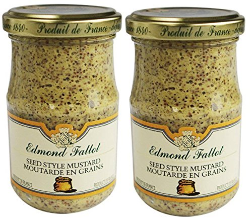 Edmond Fallot Old Fashioned Grain Dijon Mustard,  7.4 oz Jar (Pack of 2)