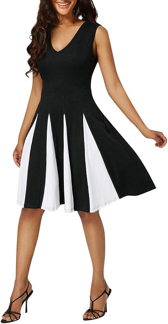 YBWZH- Vestido de Noche para Mujer, Mujeres, de Rayas, Sexy, sin ...