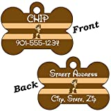 Disney Chip and Dale Double Sided Pet Id Tag for Dogs & Cats Personalized with 4 Lines of Text (Chip)