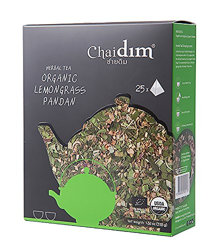 Chaidim Premium Organic Herbal tea 25 teabags (Lemongrass/Pandan) Earl May Christmas Trees
