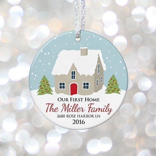 our first home christmas ornament personalized housewarming gift idea christmas gift for first family