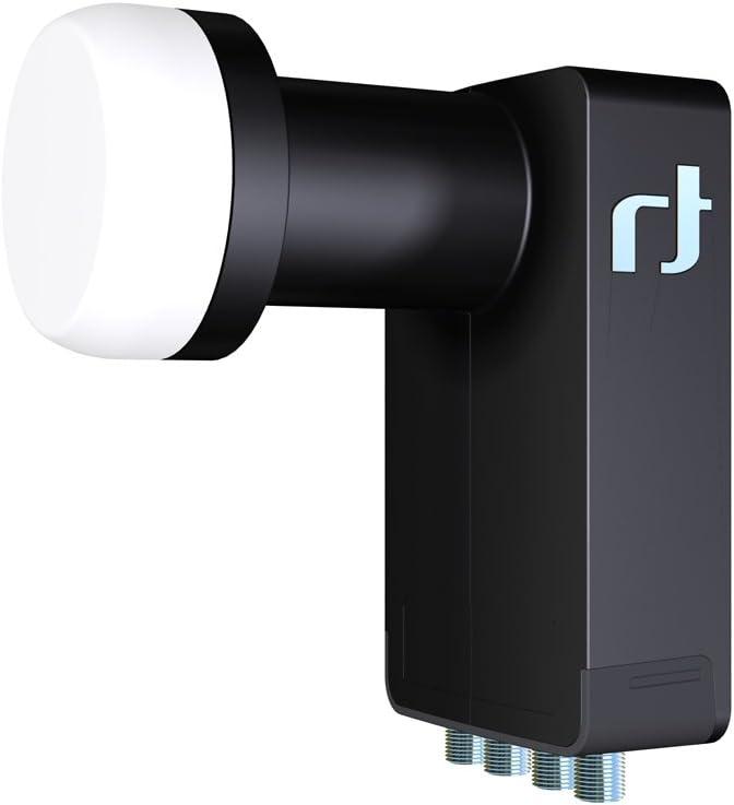 Inverto IDLB-QUDL40-ULTRA-OPP - Convertidor de señal satélite universal LNB Quad Ultra (40 mm) para receptor de satélite analógico y digital, color ...