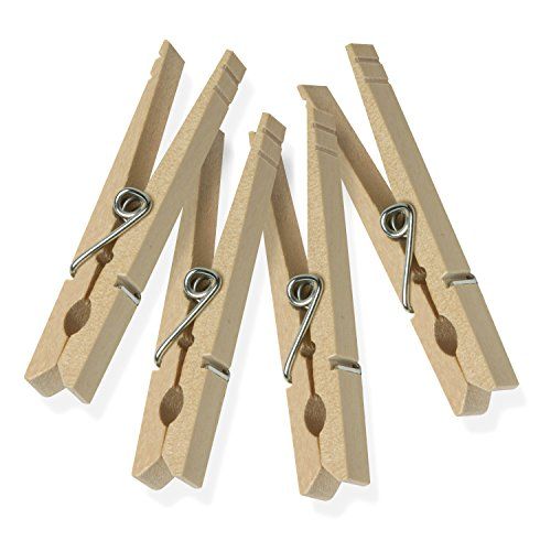 - HoneyCanDo Wood clothespins with spring-200-pack