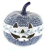 asd cookware - Blue Rose Polish Pottery Tulip Large Pumpkin Luminary