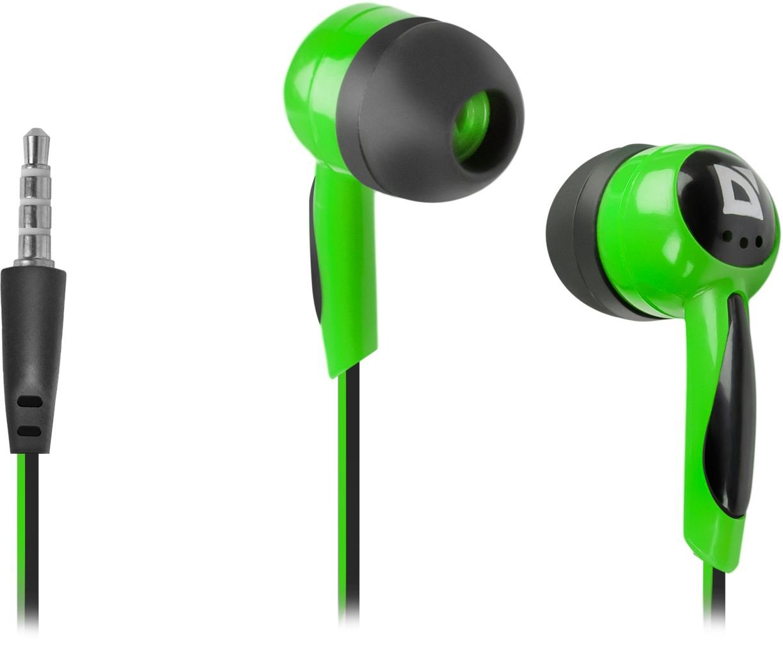 d854aaad54c Defender In-Ear Headphones Basic 604 Black + Green: Amazon.co.uk:  Electronics