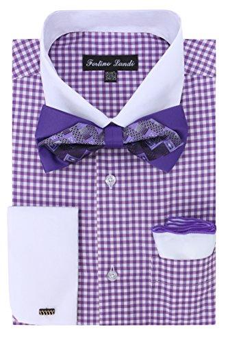 Gingham Shirt Bowtie Hanky Cufflinks product image