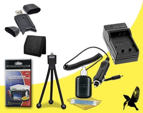 DCR-HC45 Halcyon Brand 600 mAH Charger with Car Charger Attachment Kit Memory Card Wallet DCR-HC24 Deluxe Starter Kit for Sony DCR-HC51 DCR-HC62 SDHC Card USB Reader DCR-HC20 DCR-HC27 DCR-HC22 DCR-HC30 DCR-HC27 DCR-HC32, DCR-HC19 DCR-HC47