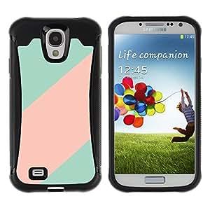 """único patrón Impacto Shock-Absorción y Anti-Arañazos Funda Carcasa Case Bumper Para Samsung Galaxy S4 IV I9500 , ( Patrón trullo Línea Rosa Clean minimalista"""" )"""