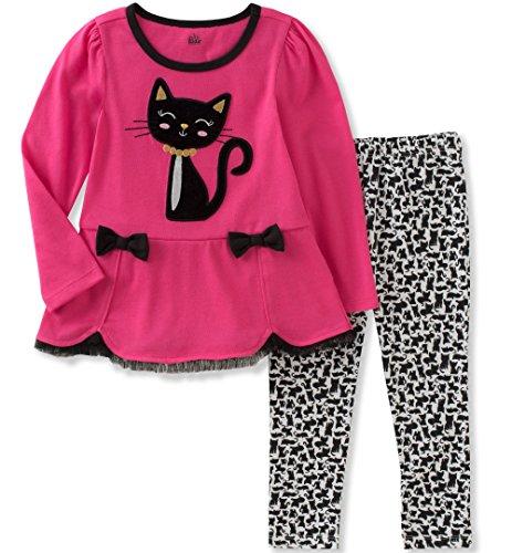 by Girls' Tunic Legging Set, hot Pink/Black/White, 18M ()