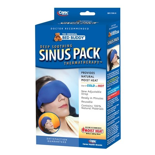 Bed Buddy Sinus Pack - Use Hot or Cold for Headaches With straps