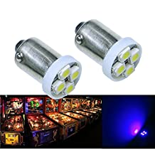 PA 10PCS #1893 #44 #47 #756 #1847 BA9S 4SMD LED Pinball Machine Light Bulb -6.3V AC/DC 6-COLOR options