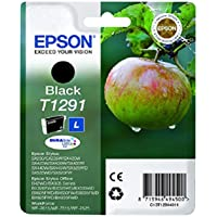 Epson C13T12914011 Cartuccia Inkjet Ink Pigmentato, Blister RS Durab.Ult./Mela-L T1291, Nero