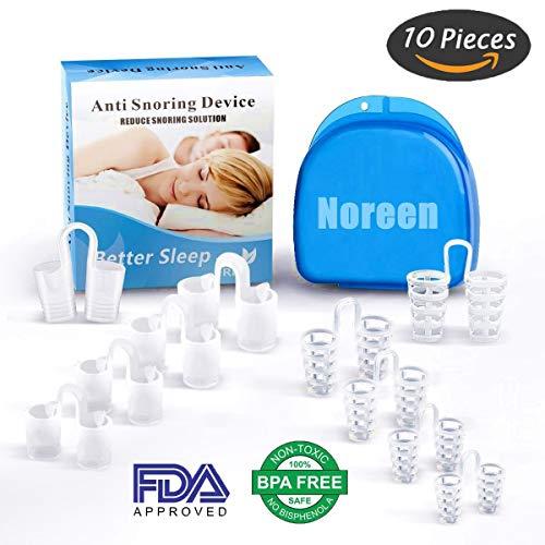 NOREEN Dilatadores Nasales Anti ronquido soluciones - Antirronquidos 100% Libre de BPA - para ¡Dejar De Roncar, para Dormir para Hombres Mujeres 10 ...