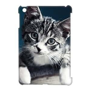 3D Case For iPad Mini, Cute Gray Kitten Portrait Case For iPad Mini, Stevebrown5v White