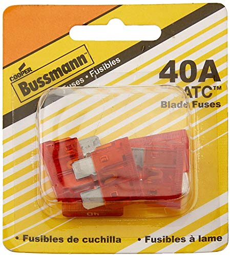 COOPER BUSSMANN BK/ATC-40 FUSE, BLADE, 40A, 32V, FAST ACTING (5 pieces)
