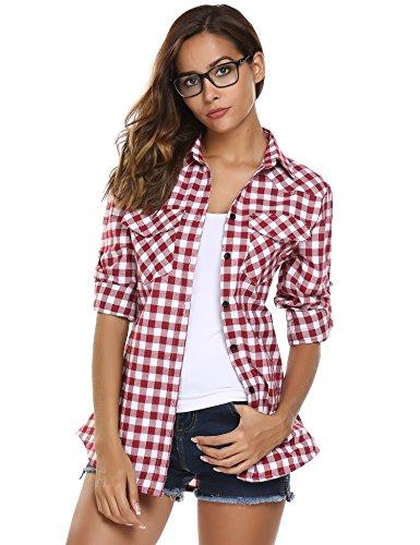 Plaid Button Down Shirt - 3