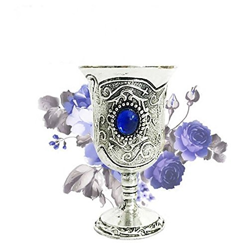 Goblet Blue Water Light (Tarot Water Elemental Chalice Goblet Wicca Altar Pagan Retro Divination Props (blue))