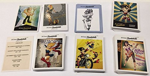 2017 DC Comics Bombshells Trading Cards 100-Card Set: Covers Base + 4 Insert Sets