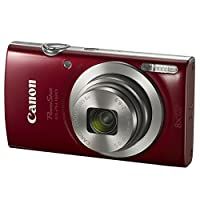 Canon PowerShot ELPH 180 Digital Camera (Red) + Transcend 16GB Memory Card + Camera Case + USB Card Reader + LCD Screen Protectors + Memory Card Wallet + Cleaning Pen + Ultimate Value Camera Bundle by Canon