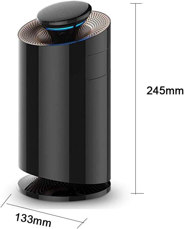 Compacto purificador de aire con UV-C HEPA y filtros carb/ón UV limpieza de la luz mata los g/érmenes y bacterias virus filtraci/ón purificaci/ón elimina el polvo del polen de humo del hogar olores