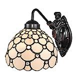 Amora Lighting AM110WL08 Tiffany Style Wall Lamp 8 in Wide