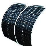 Cheap REBORN 50Watts 12V/18V Monocrystalline Cell Semi Flexible Solar Panel (50Watts)