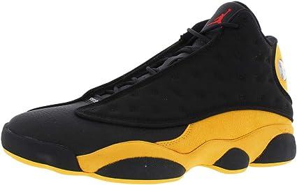 Jordan Air 13 Retro Hombres Zapatos De Basquetbol Negro University Rojo  414571 035 (10)