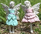 Fiddlehead Fairy Bundle of 2 Sweet Pea and Beryl Fairy Stakes - 5.25""