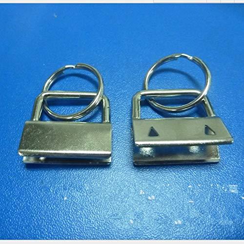 (BIG-DEAL_500pcs Key Fob Hardware 32mm 25mm 1.25'' 1'' Keychain Split Ring for Wrist Wristlets Cotton - (Size:25mm))