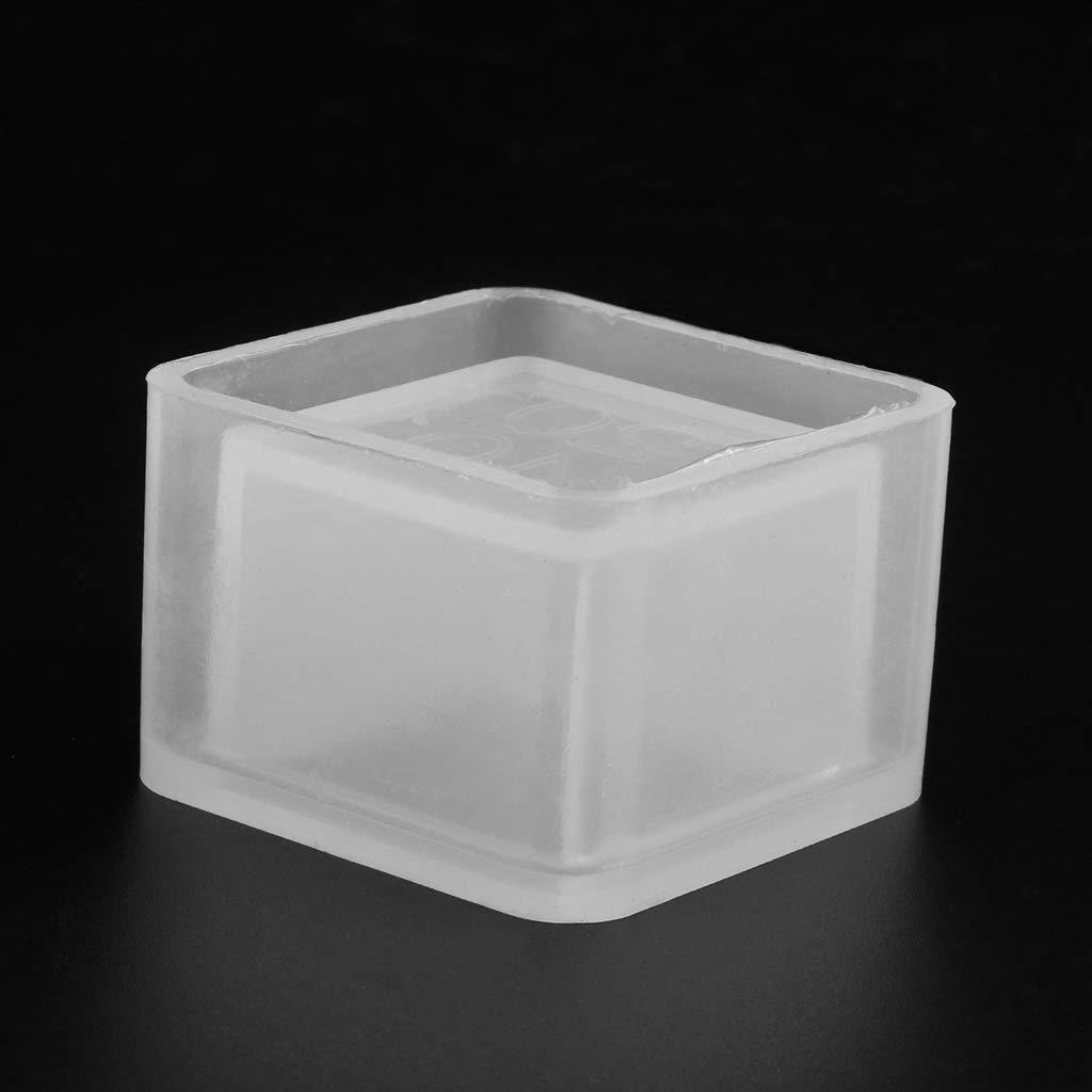 Fogun Cube Moldes de silicona para jarr/ón de hormig/ón