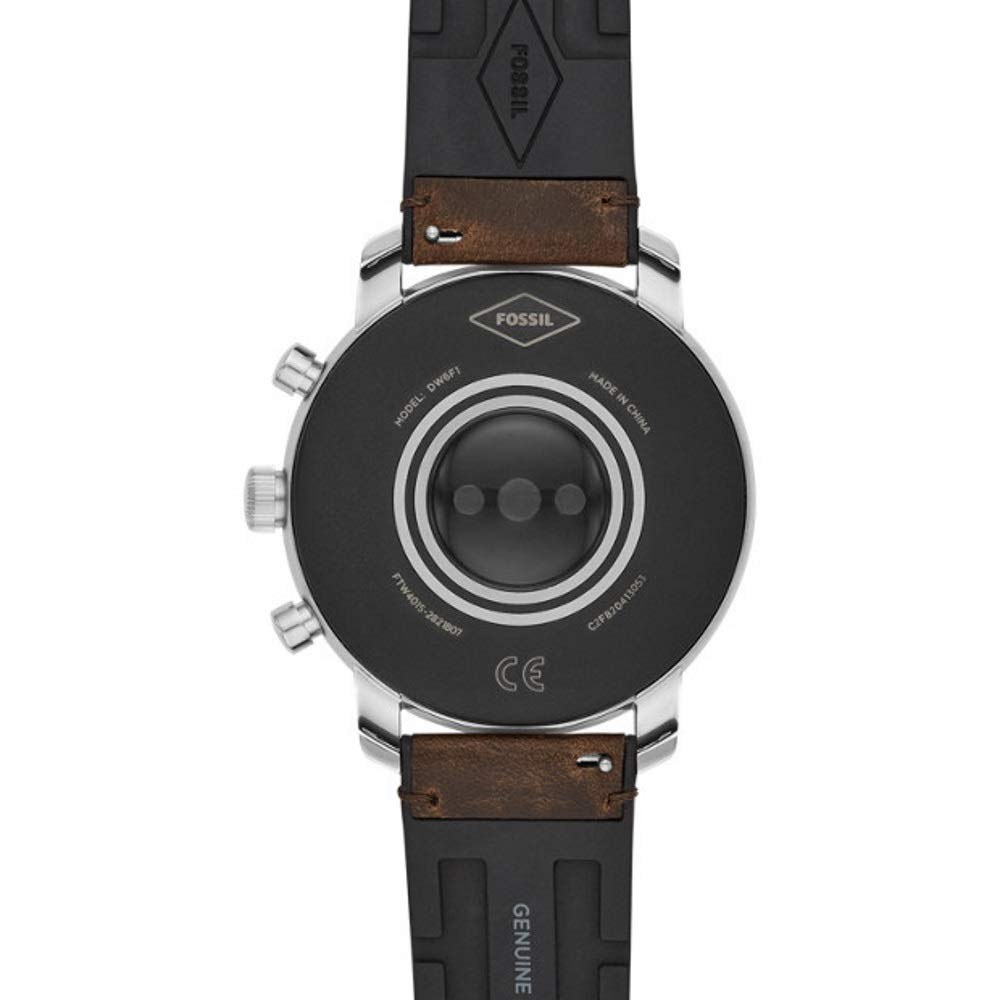 Fossil Q Explorist HR Reloj Inteligente Plata GPS (satélite): Amazon.es: Electrónica