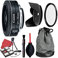 Canon EF-S 24mm f/2.8 STM Lens + Accessory Bundle