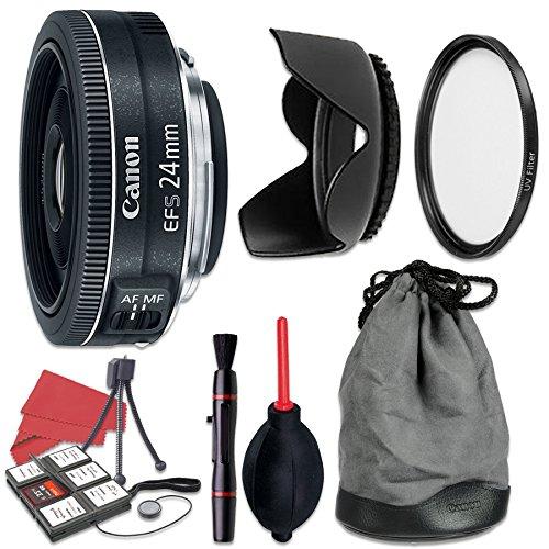 Canon EF-S 24mm f/2.8 STM Lens + Accessory Bundle