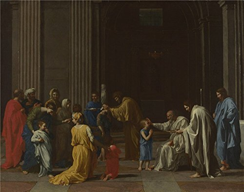 Oil Painting 'Nicolas Poussin Confirmation ' Printing On Polyster Canvas , 10 X 13 Inch / 25 X 32 Cm ,the Best Hallway Decoration And Home Decor And Gifts Is (Restoration Comedy Costumes)