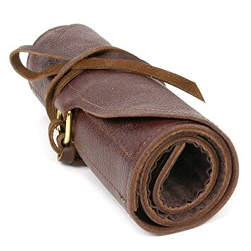 Moonshine Leather Co. - Carver's Tool Roll - Cowhide - Protection Storage Transport Organization - Made in USA (Large 10-Pocket) by UJ Ramelson Co