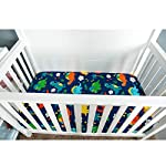 Crib-Sheet-UOMNY-100-Cotton-Crib-Fitted-Sheets-Baby-Sheet-for-Standard-Crib-and-Toddler-mattresses-Nursery-Bedding-Sheet-Crib-Mattress-Sheets-for-Boys-and-Girls1-Pack-Dinosaur