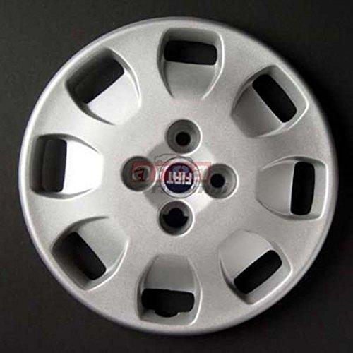Juego de 4 tapacubos para Fiat Punto Sx Series II Logo de 13 cm de diámetro, color rojo: Amazon.es: Juguetes y juegos