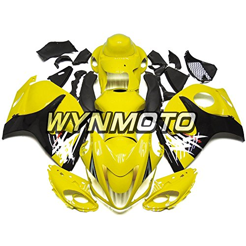WYNMOTO ABS Plastic Injection Motorcycle Fairing Kit For Suzuki GSX-R1300 GSXR1300 Hayabusa 2014 2015 2016 2008 - 2016 Gloss Light Yellow Black Sportbike Panels