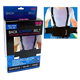1 Back Support Brace Work Belt Adjustable Waist Lumbar Heavy Lift Suspenders New by ATB