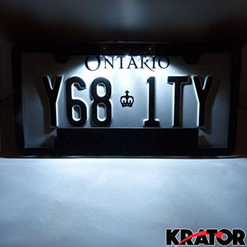 amazoncom krator universal car motorcycle led license plate holder light fits roll pan will fit suzuki honda yamaha kawasaki ducati harley davidson